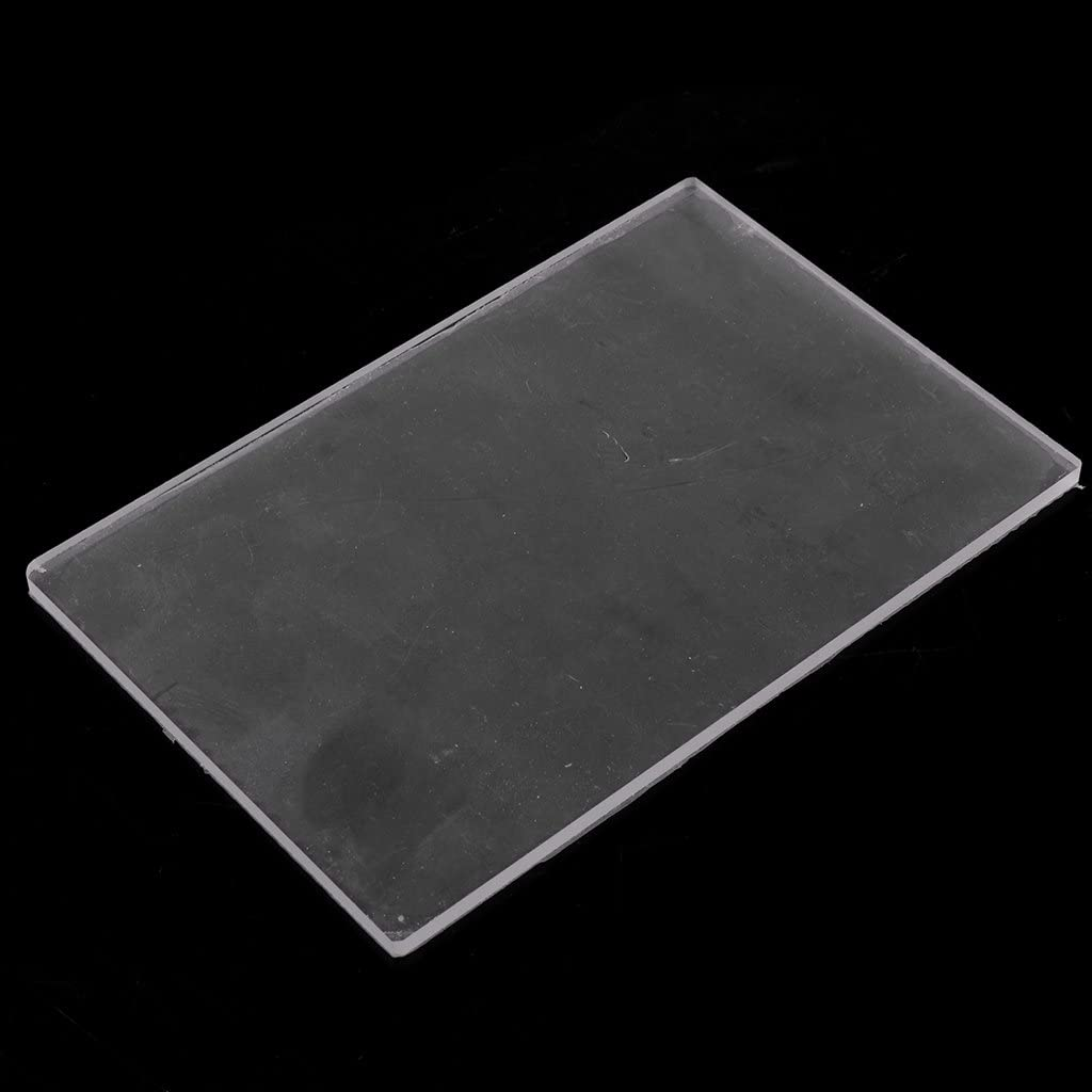 freneci Acrylic Sheet Backing Board Pressure Plate for Shaping /& Sculpting Polymer Clay 10X10X0.4CM