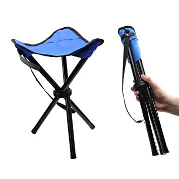51ea5d58e142 IDEAPRO Lightweight Camping Hiking Fishing Lawn Portable Folding Tripod  Stool, Chair With 3 Legs Stool