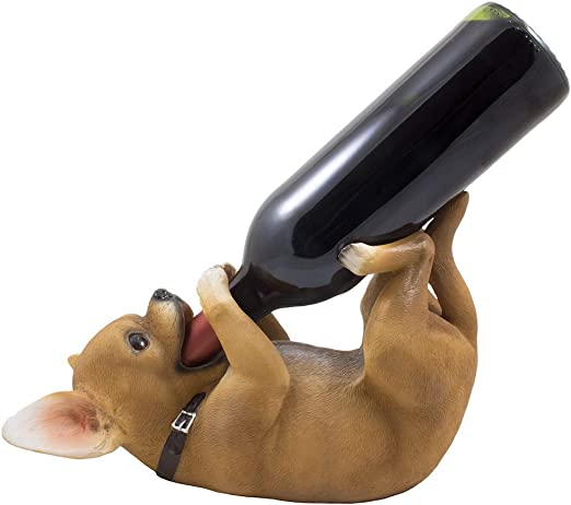 South of the Border Chihuahua Wine Bottle Holder Sculpture for Decorative