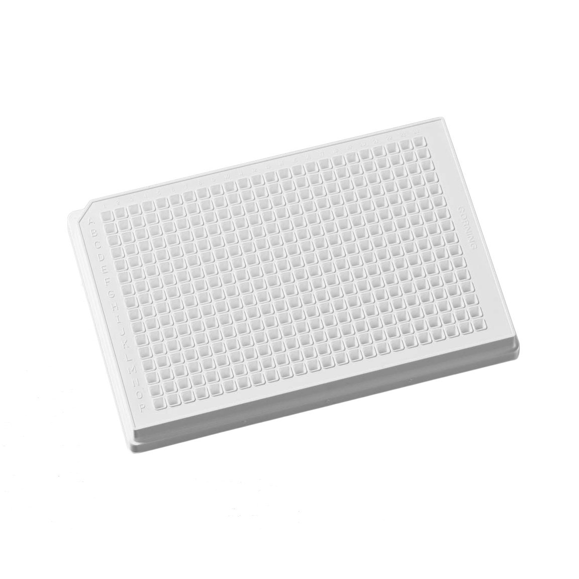 Corning 3572 Polystyrene Flat Bottom 384 Well Low Flange Microplate, Without Lid, Not Treated (Case of 50)