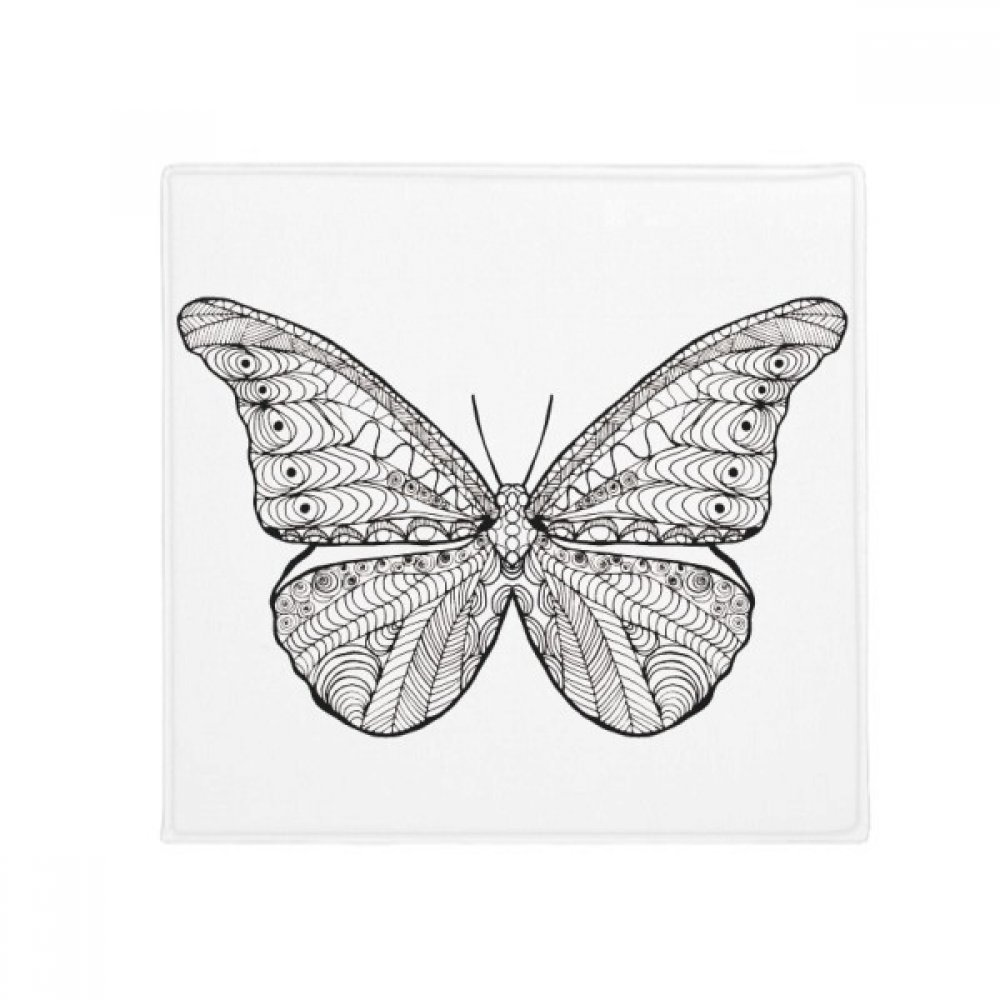 DIYthinker Beautiful Butterfly Animal Portrait Sketch Anti-Slip Floor Pet Mat Square Home Kitchen Door 80Cm Gift