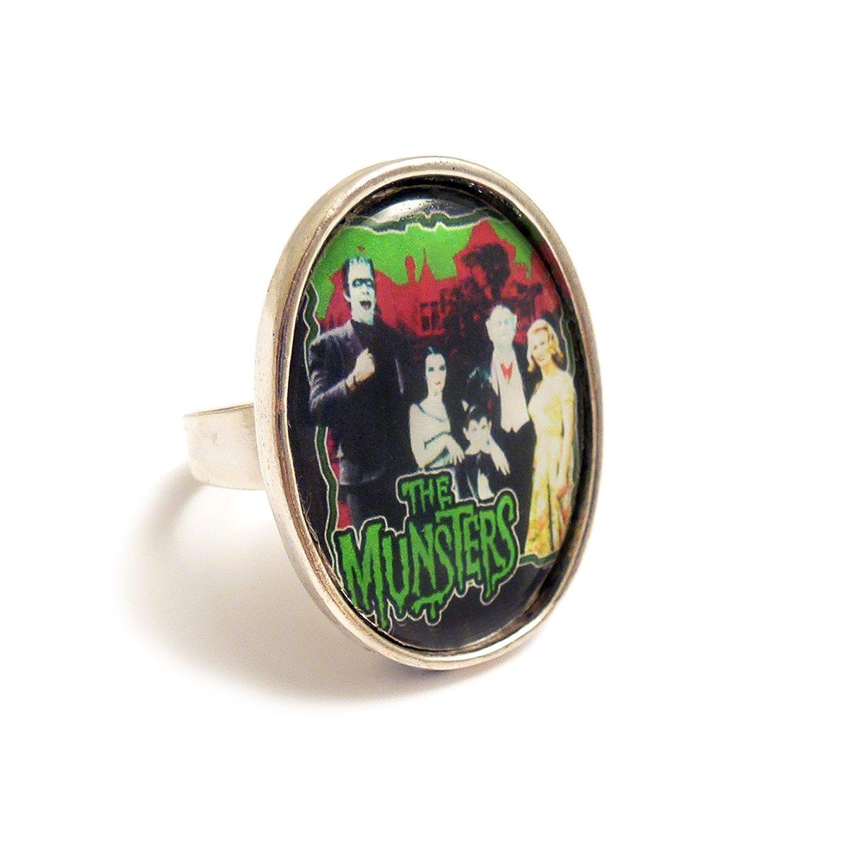 LunarraStar The MUNSTERS family TV ring silver adjustable ...