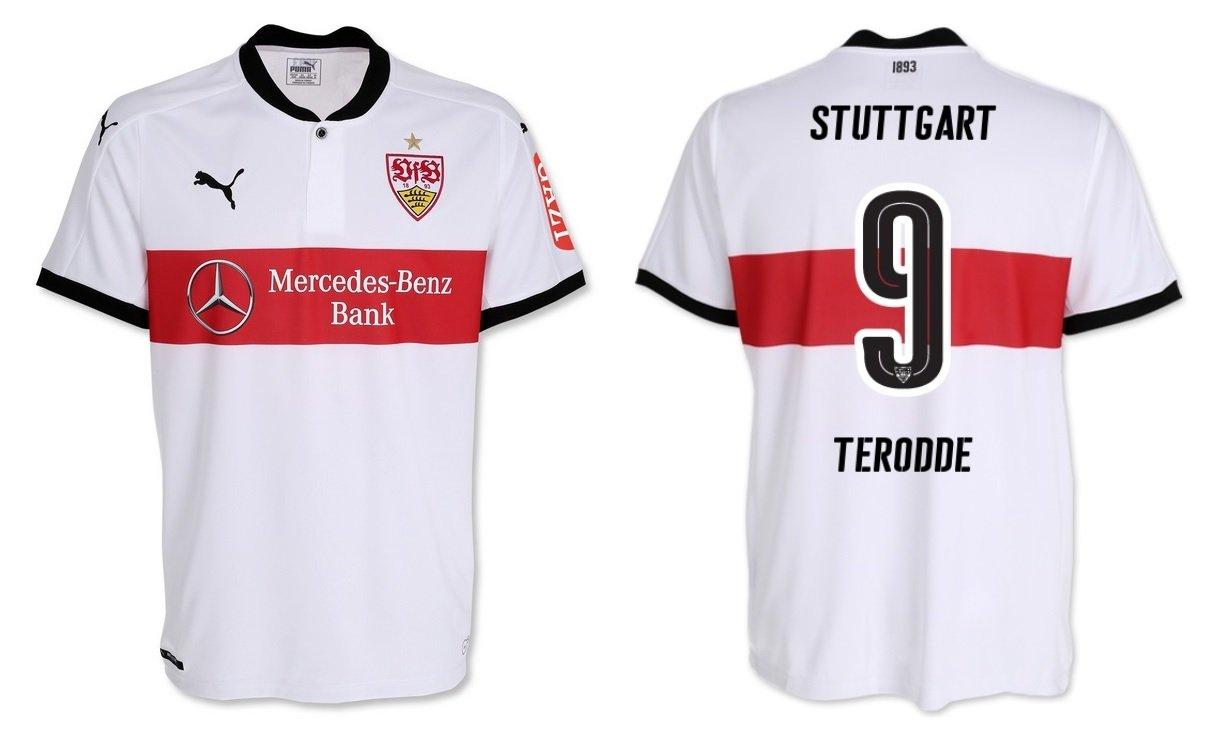 Trikot Kinder VfB Stuttgart 2017-2018 Home - Terodde 9
