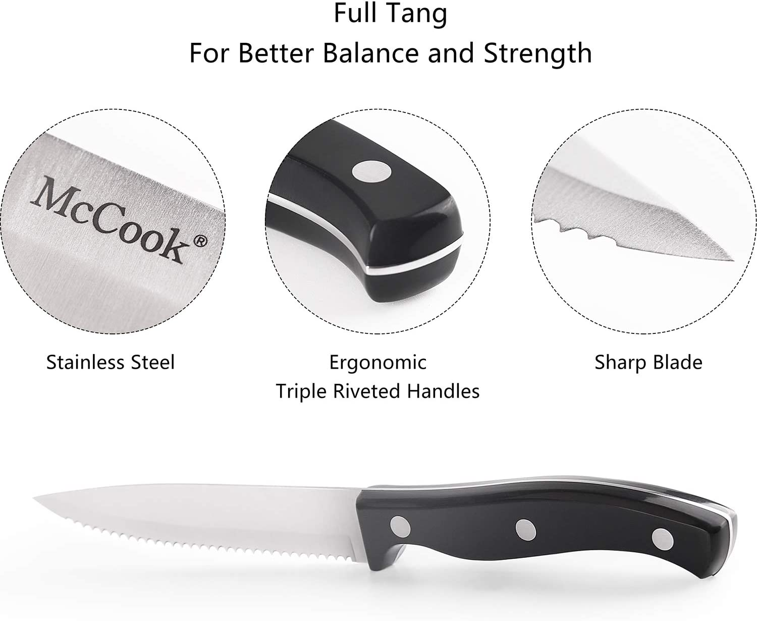 McCook MC55 8-Pcs Steak Knives