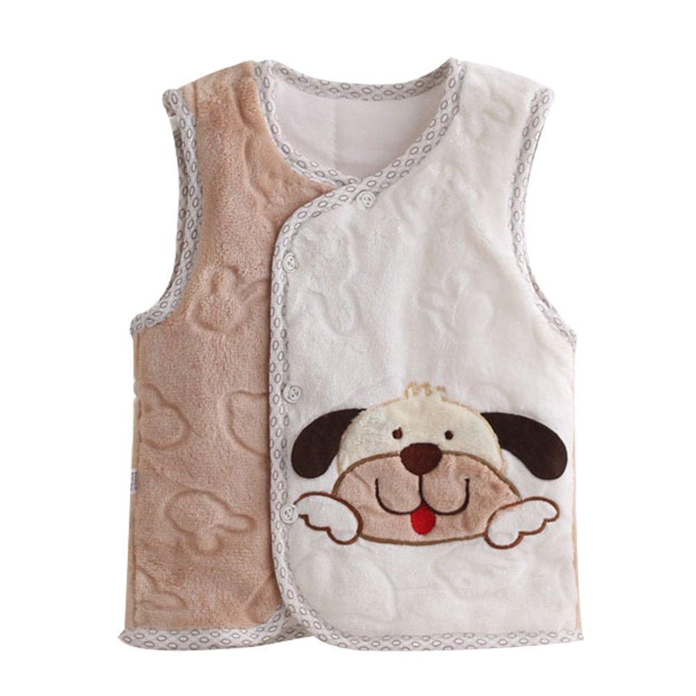 LOSORN ZPY Toddler Baby Boy Girl Fleece Vest New Born Lovely Dog Cozy Vest 12-24M