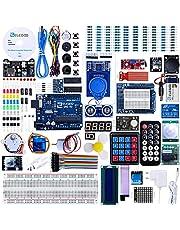 ELEGOO UNO R3 Ultimate Starter Kit Compatibel met Arduino IDE Volledig Elektronica Project Bouwdoos met Duitse Tutorial, UNO R3 Microcontroller Board en Accessoires (Meer Dan 200 Delen)