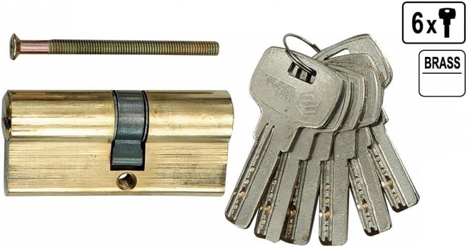 Sicherheits Schlie/ßzylinder T/ür Schlo/ß T/ürschlo/ß 67 mm 6 x Schl/üssel 31//36 Messing
