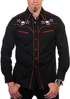 Banned Camicia Skull Shirt Nero/Rosso
