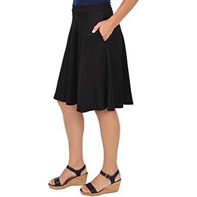 851d430d1b Stretch is Comfort Women's Circle Skirt with Pockets at Amazon ...