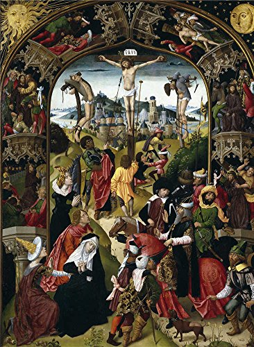 [Oil Painting 'Anonymous El Calvario Ca. 1500', 12 x 16 inch / 30 x 42 cm , on High Definition HD canvas prints is for Gifts And Bath Room, Bed Room And Garage Decoration, wall print] (Competition Dance Costumes Catalogs)