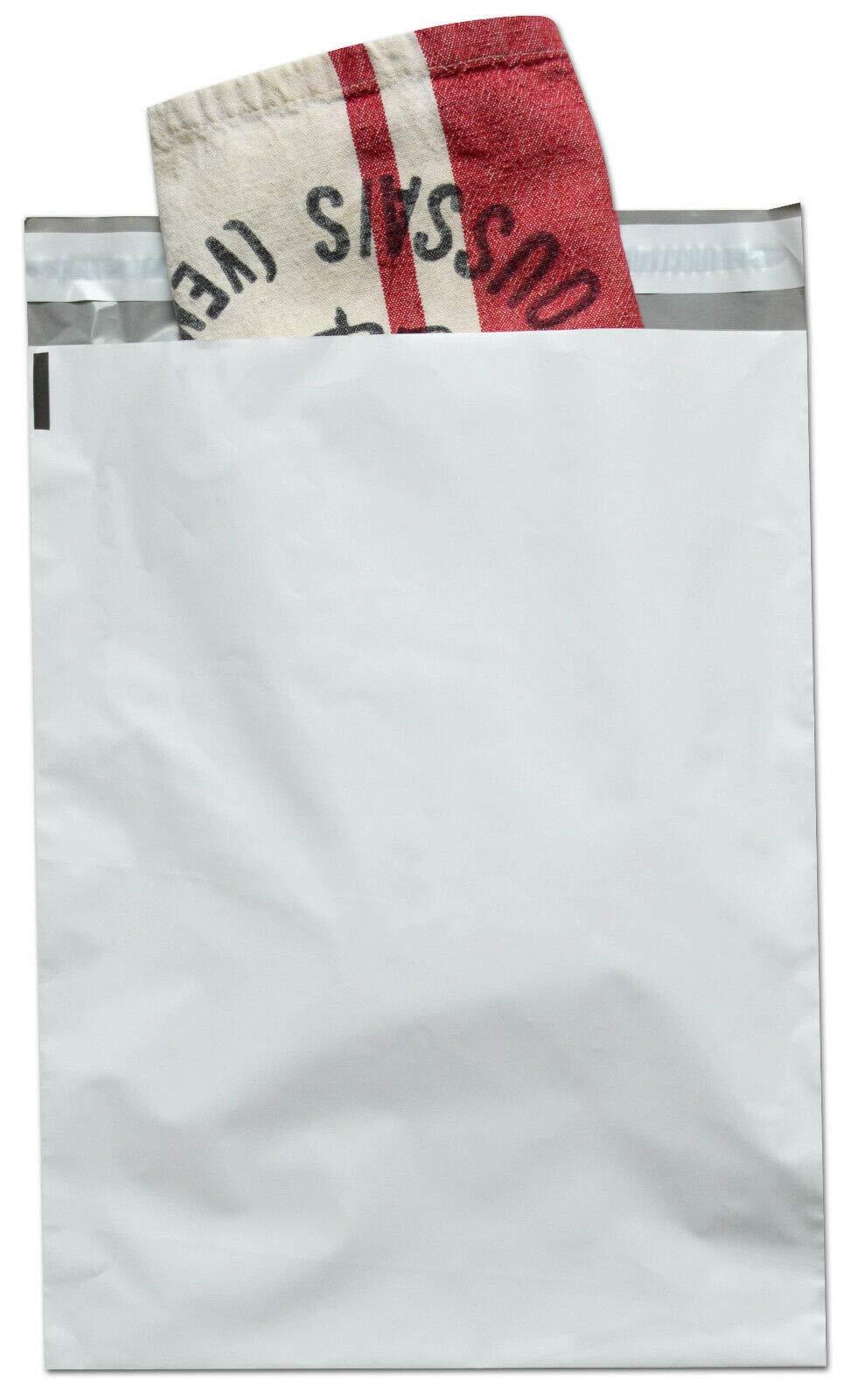 2.5 Mil Poly Mailer Envelopes, 7 1/2 x 10 1/2 Inch, Self Adhesive Sealing Strip, White, 1000 Pack