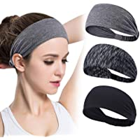 4PCS Women Workout Headband Lightweight Soft Wicking Stretchy Head Wrap Ideal for Sports/Yoga/Pilates/Dancing/Running/Cycling/Fitness Exercise/Travel