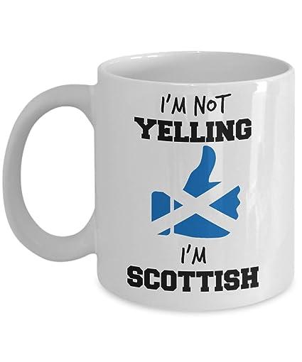 Amazon com: Scottish Pride Mug - I'm Not Yelling I'm