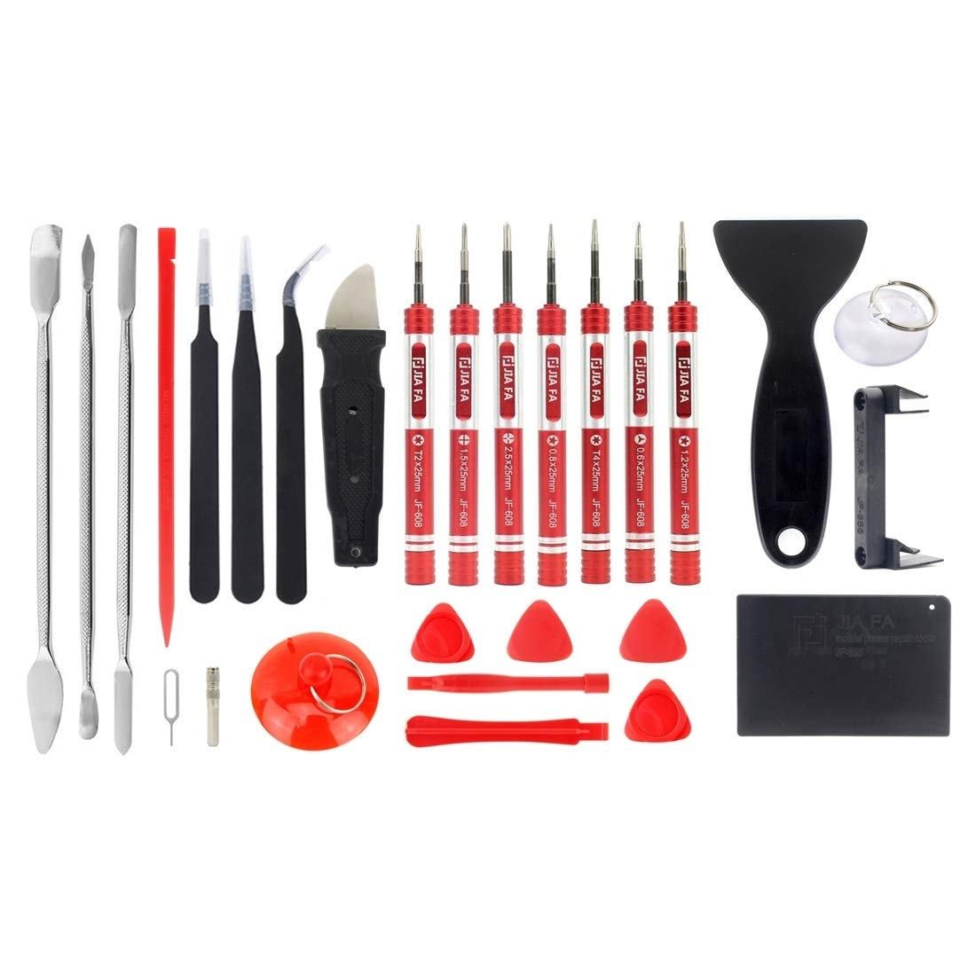 Professional Cell Phone Accessory Kits Compatible with Repair Cell Phone, iPhone, MacBook and More JF-8175 28 in 1 Electronics Repair Tool Kit with Portable Bag by DINGGUANGHE-PHONE REPAIR TOOL