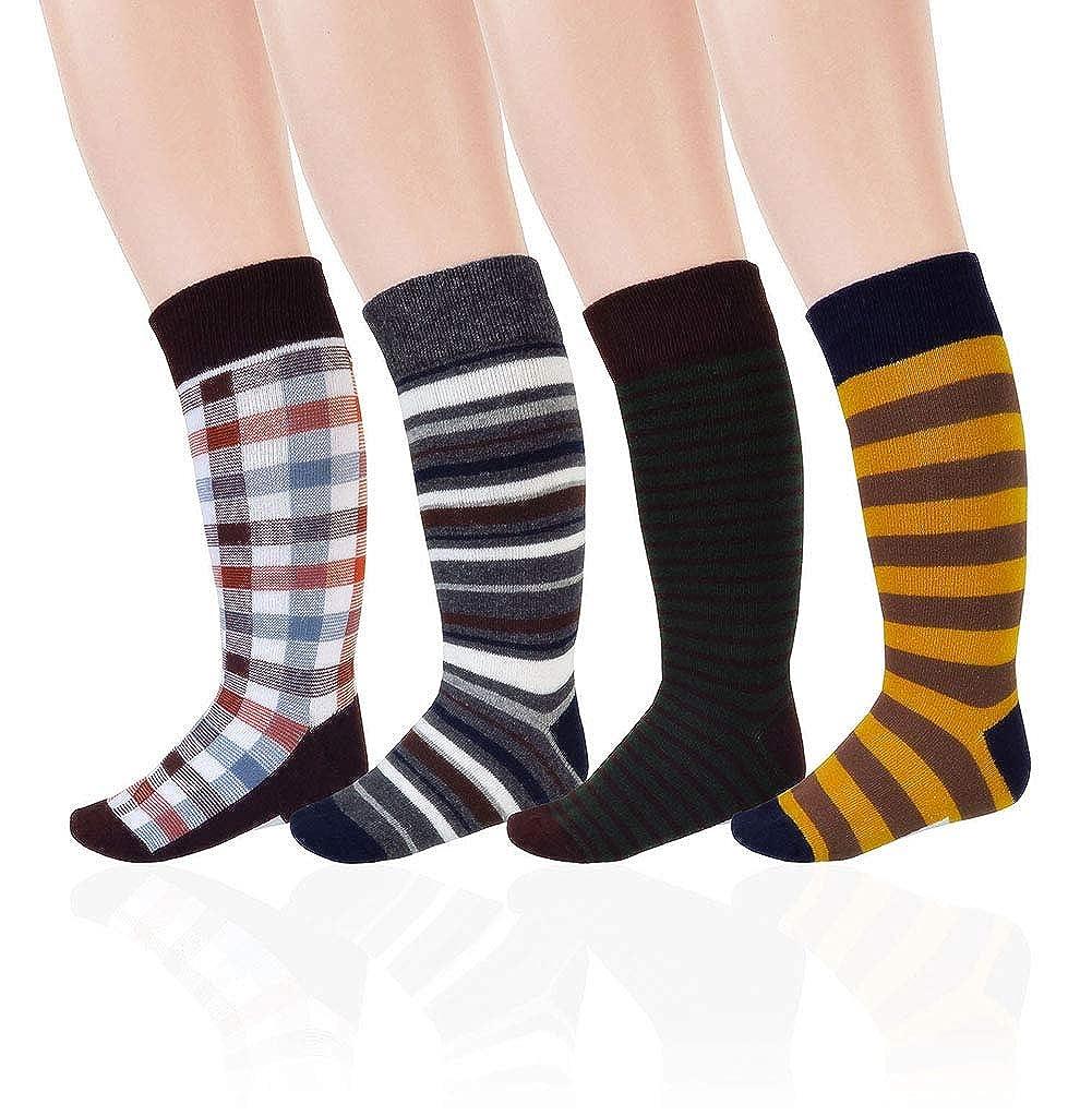 JIEEN Boys Socks Cotton School Colorful Knee High Long Middle Tube Kids Prince