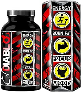 El Diablo Energy Gold The Most Extreme Weight loss and Fat Incinerating Thermogenic Supplement for Men and Women With Green Tea Extract Raspberry Ketones Bitter Orange Extract B-Vitamin Complex