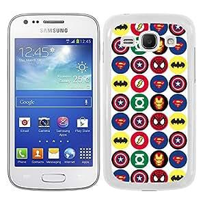 Funda carcasa para Samsung Galaxy Ace 3 estampado superhéroe borde blanco