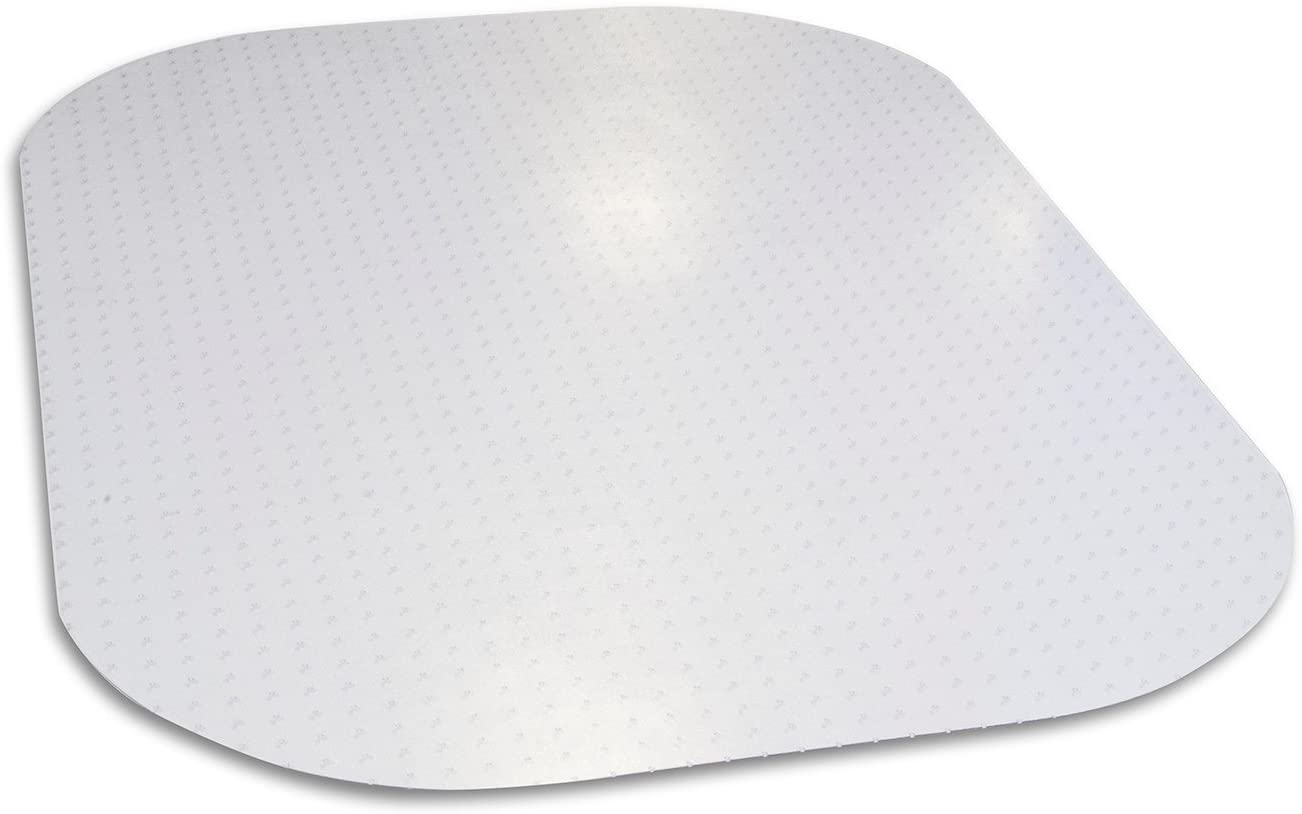 "Evolve Modern Shape 45""x 60"" Clear Rectangle Office Chair Mat for Low and Medium Pile Carpet, Made in The USA by Dimex, Phthalate Free, C5E6001J"