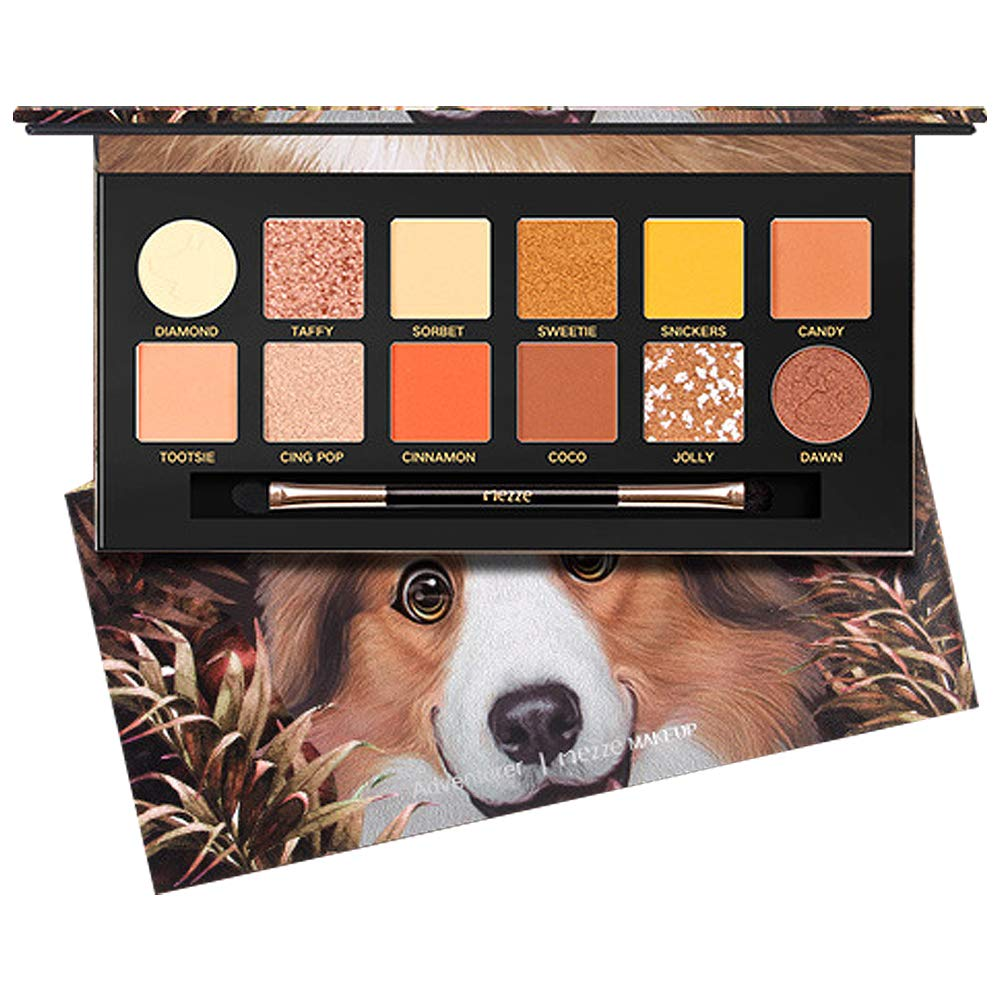 Eyeshadow Palette Matte Eyeshadow Pallet Pearl Eyeshadow Pallet 12 Colors With Eyeshadow Brush And Mirror,Gift For Girls and Women,Younger Color Eyeshadow
