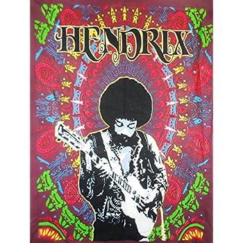 Amazon Com Jimi Hendrix Wall Hanging Cotton Home Decor