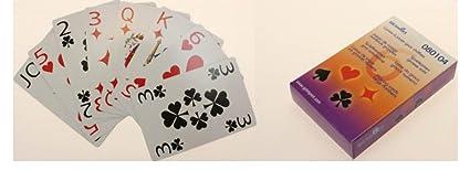 Jeu de 54 cartes à gros caractères pour malvoyant  Amazon.fr ... bd86f9dc4024