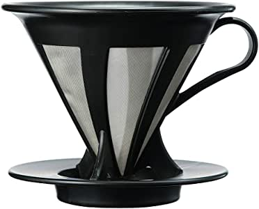 Hario Cafeor Stainless Steel Coffee Dripper (Size 02, Black)