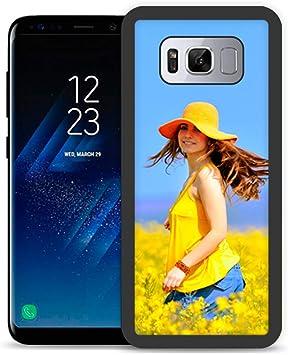 Fundas de móvil Samsung S8 Personalizadas con Fotos y Texto | Fundas Negras con los Laterales Flexibles para el Samsung Galaxy S8: Amazon.es: Electrónica