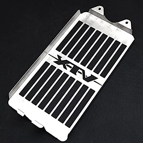 Motorparty Radiator Grill Cover Water Tank Grille Guard Protector For Honda VTX 1300 C R S T 2003-2009 2008 2007 2006 2005 2004,Stainless Steel,Skull Pattern