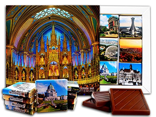 DA CHOCOLATE Candy Souvenir MONTREAL Chocolate Gift Set 5x5in 1 box (Notre-Dame)