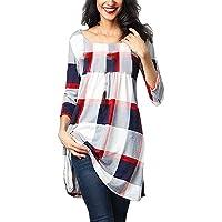 ITISME Femme T-Shirt GrandeTaille Chic Manche Longue Casual Col V éLéGantfloral Imprimé Mode Tee Top Haut Blouse