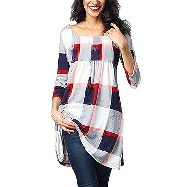 2e51cdf3fd746 ITISME Femme T-Shirt Grande Taille Chic Manche Longue Casual Col V  éLéGantfloral Imprimé Mode