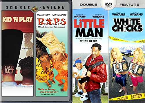 Class Act Kid N' Play & B.A.P.S. + White Chicks & Little Man Wayans 4 Funny Film pack