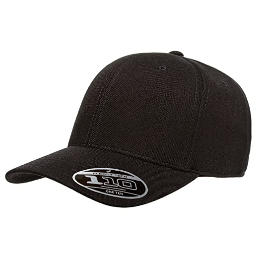 2040USA Flexfit 110 Cool and Dry Mini Pique Adjustable Cap (Black ... cf13bd50e5a
