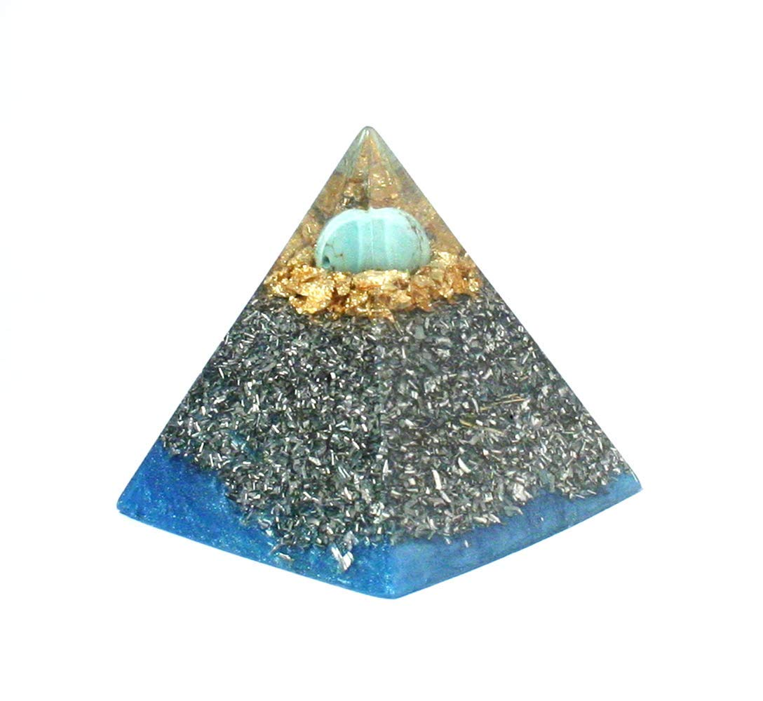 Meditation And EMF Protection Turquoise Orgonite Pyramid Orgonise Yourself Throat Chakra Healing