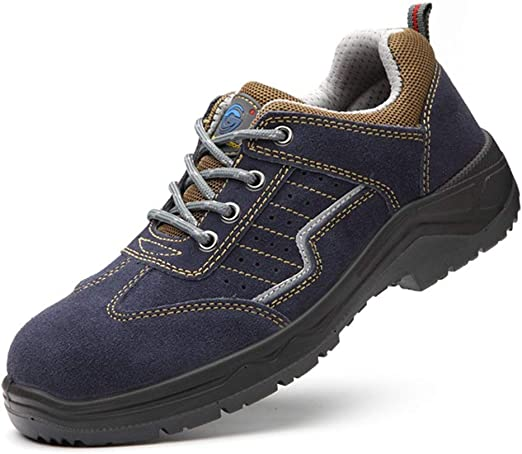 Zapatos de Senderismo - Zapatillas de Trail Runnin Zapatos De Seguridad | Anti-Smash | Antipinchazos | Aislamiento | Transpirable | Azul | Talla Grande (Size : 44): Amazon.es: Hogar