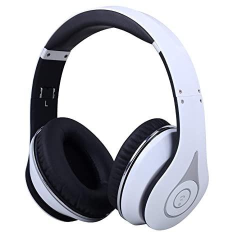 August Over Ear Bluetooth Headphones EP640 - Enjoy Sound from your Mobile  or Tablet Without Wires [White]