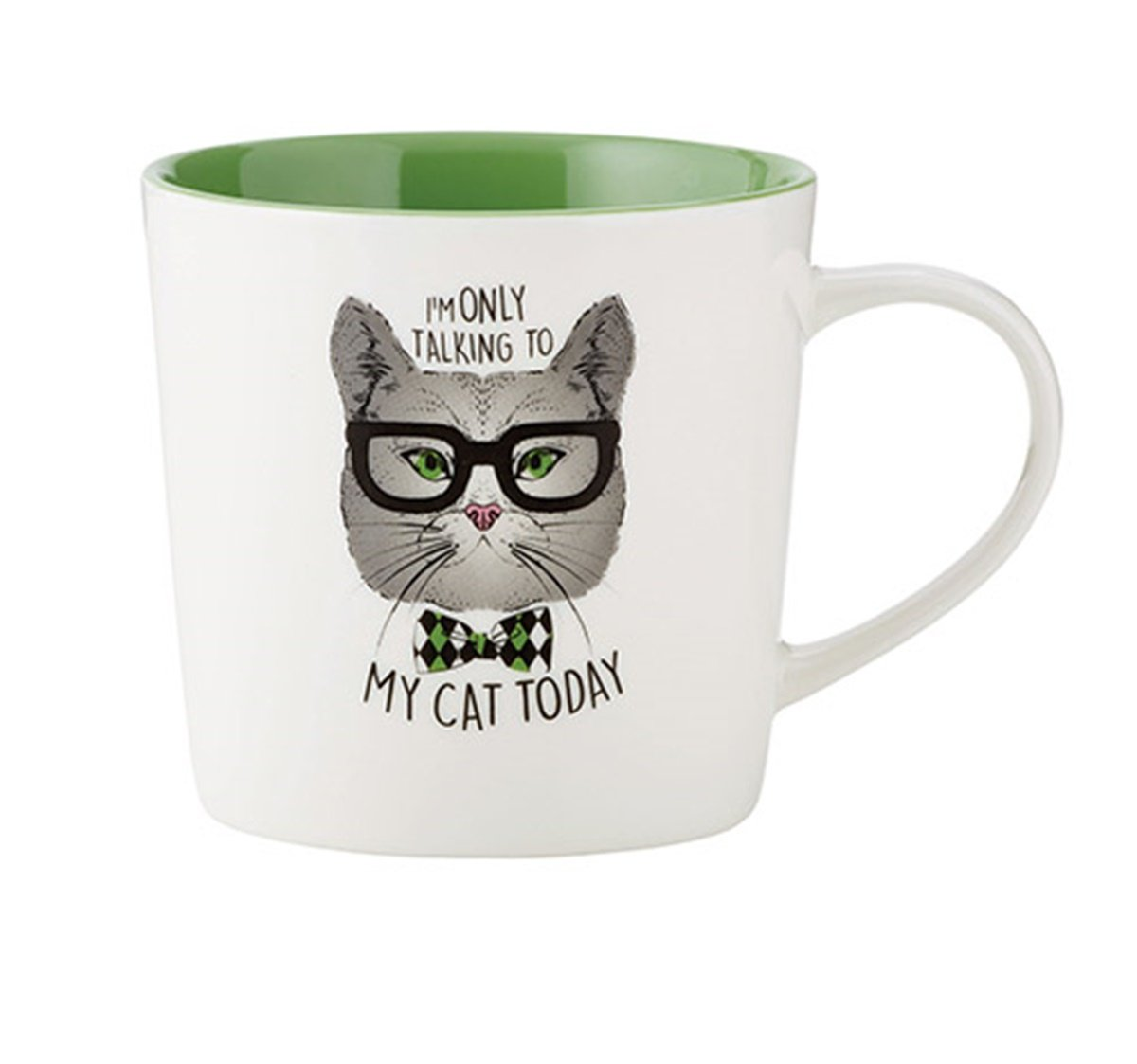 Cattitudes Cat Loversセラミックコーヒーマグカップ、15 oz 3.75 inches ホワイト B1272  Talking to My Cat B01MZJ0YMR