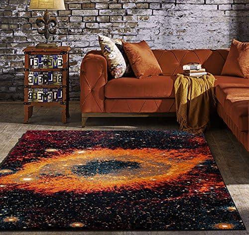 Volk Galaxy Area Rug Hubble Helix Nebula Image Space Design Large Carpet 8×10