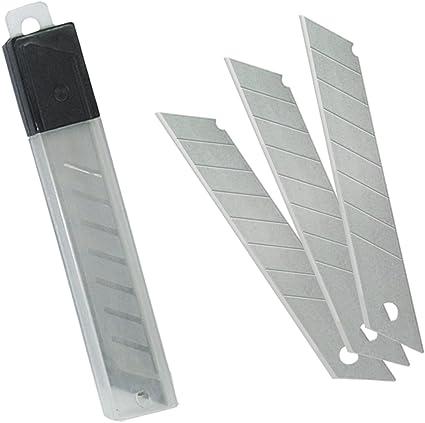 MTL 79276 - Pack de 100 cuchillas para cutter, 18 mm, incluye 10 estuches: Amazon.es: Oficina y papelería