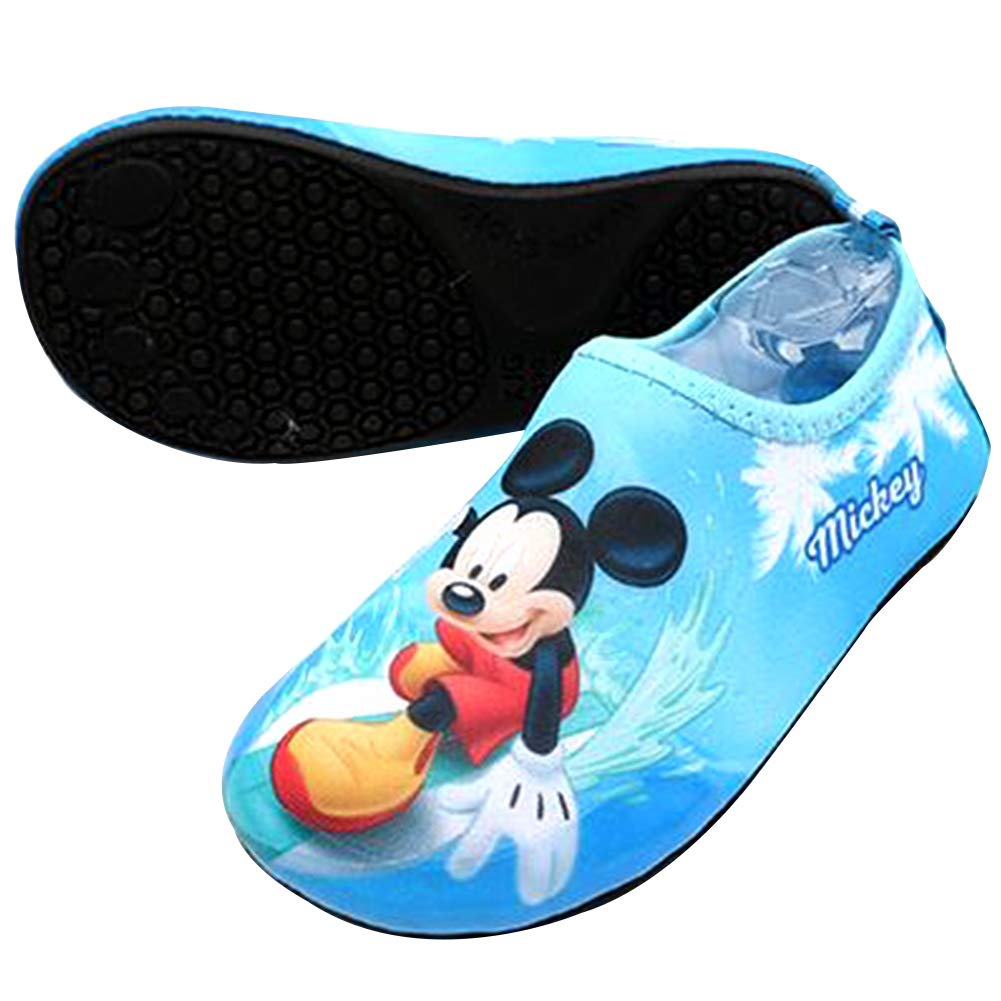 Joah Store Boys Mickey Mouse Water Shoes Double Cushioning Reinforced Toe Non-Slip Aqua Socks Runs Small (7 M US Toddler, Mickey Mouse_C)