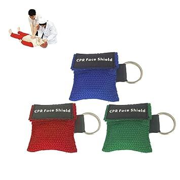 Portátil de Primeros Auxilios Mini CPR Llavero Máscara ...