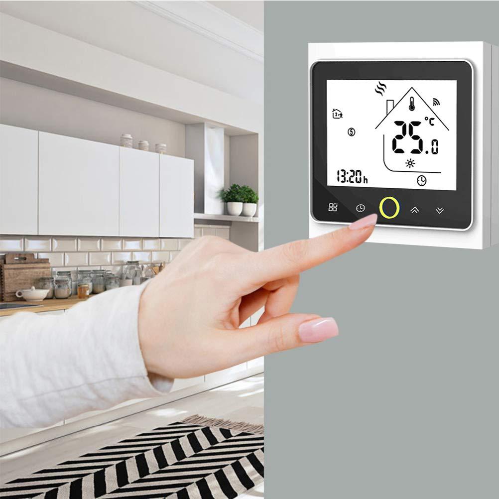 5A Google Home IFTTT Termostato Wifi para calefacci/ón individual de calderas de gas//agua funciona con  Alexa Contacto seco