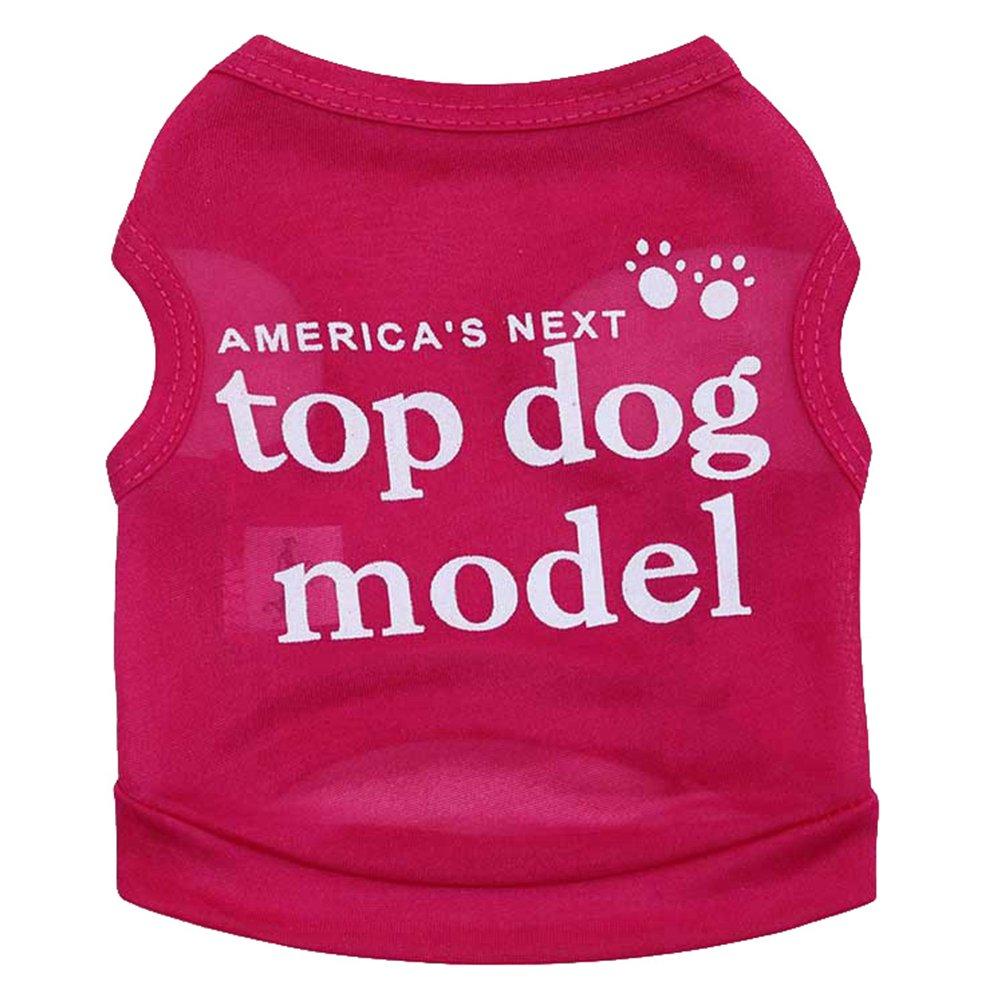 YiJee Niedlich Drucken Hund Haustier Weste Kleidung Sommer Atmungsaktiv T-Shirt f/ür H/ündchen