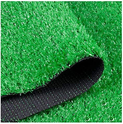 YNGJUEN 15ミリメートルパイル高人工芝、現実的で厚い偽の模造草マット、カーペットドアマットゴムサポート排水穴 (Size : 2x9m)