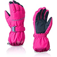 Children's Outdoor Riding Ski Gloves Winter Five Fingers Warm Gloves Waterproof Windproof Non-Slip Gloves for Boys Girls