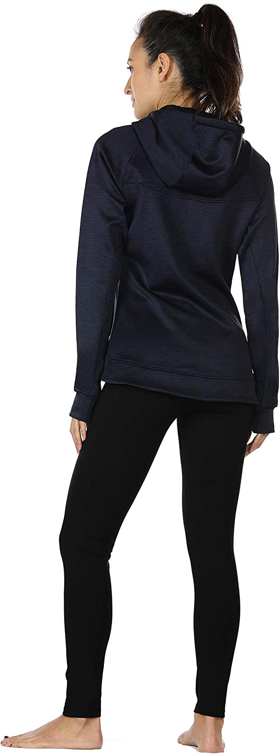 icyzone Workout Jackets for Women Athletic Exercise Running Zip-Up Hoodie with Thumb Holes