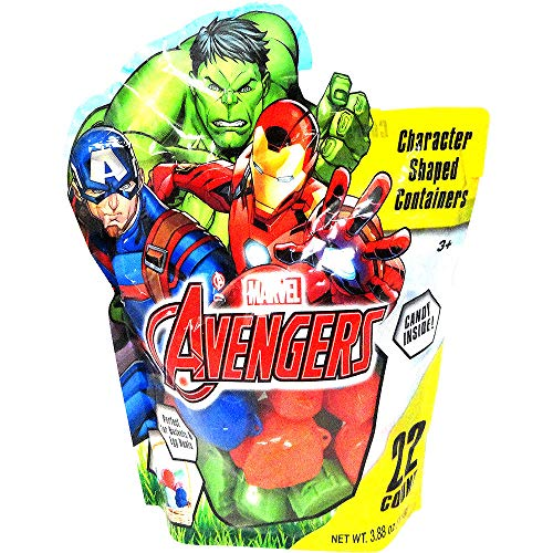 HollyDel Marvel Avengers Egg Hunt Containers with Candy 22ct, Easter Theme Garden Party Favors, Easter Eggs Hunt, Easter Goodies Goody, Basket Fillers Stuffers