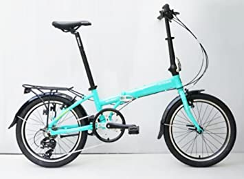 Oyama Skyline 7 Color Verde bicicleta plegable bicicleta