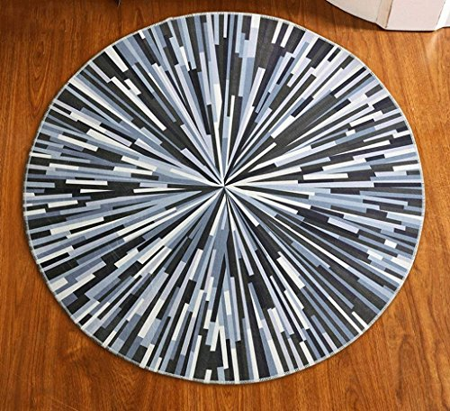 FZFZFZ Carpet, Round carpet Nordic modern Simple bedroom living room Bedside carpet Entrance Basket study computer chair Swivel chair pad Soft and comfortable (Size : ()
