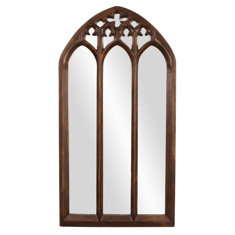 amazoncom howard elliott basilica arched mirror narrow tuscan brown home u0026 kitchen